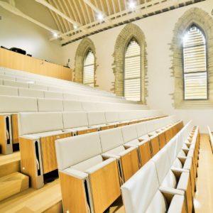 L'auditorium patrimonial, aussi appelé la Nef, au Couvent des Jacobins