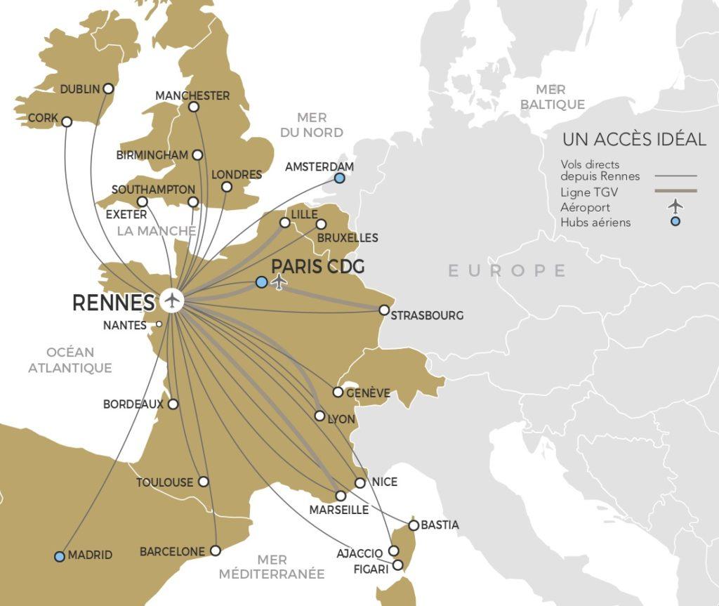 Rennes en avion