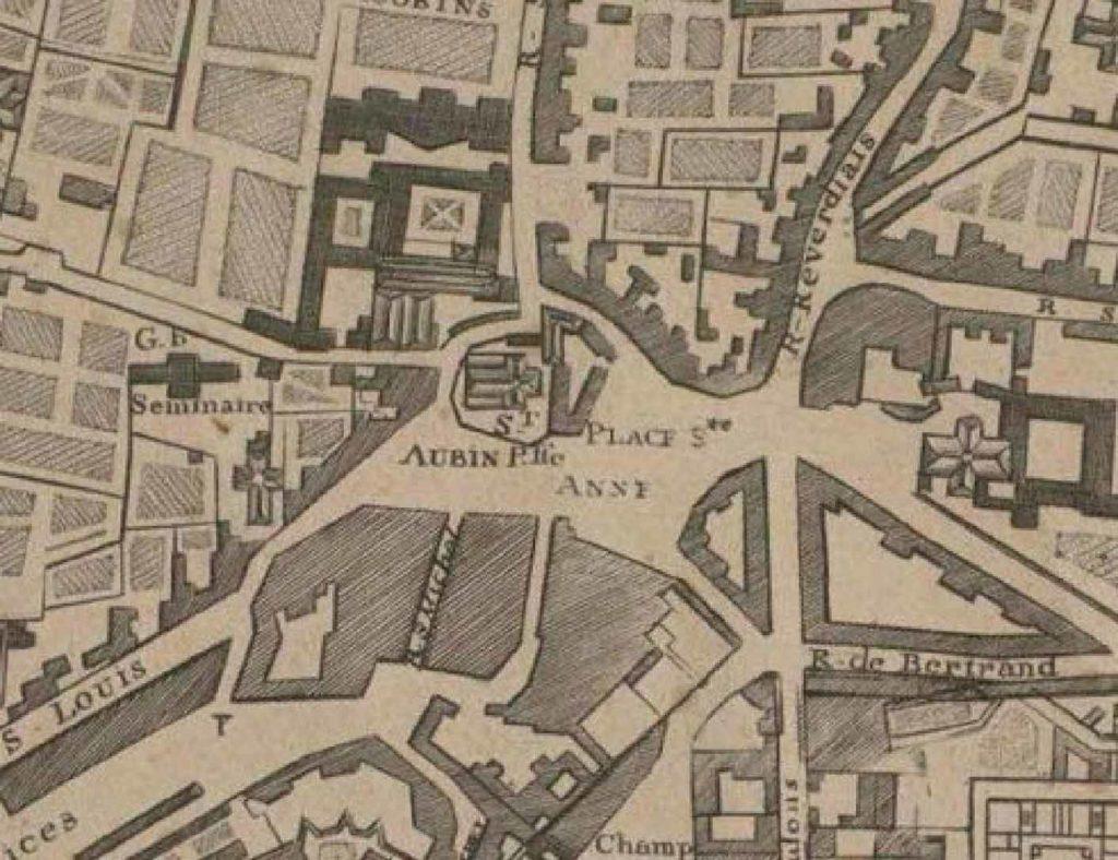 Plan du Couvent des Jacobins