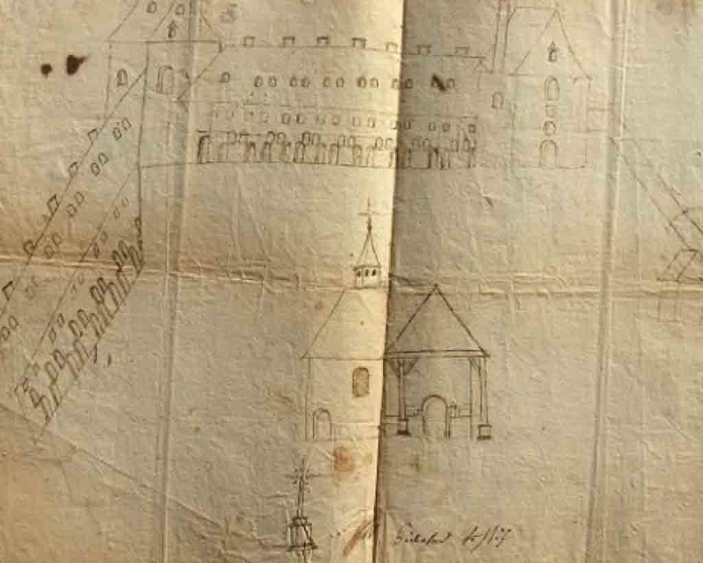 Vue cavalière du couvent des Jacobins
