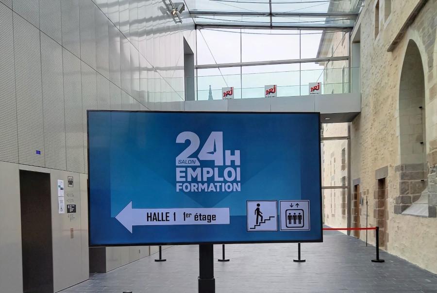 Affichage écran salon 24h pour l'emploi 2020