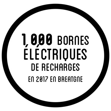 1000 bornes électriques de recharges