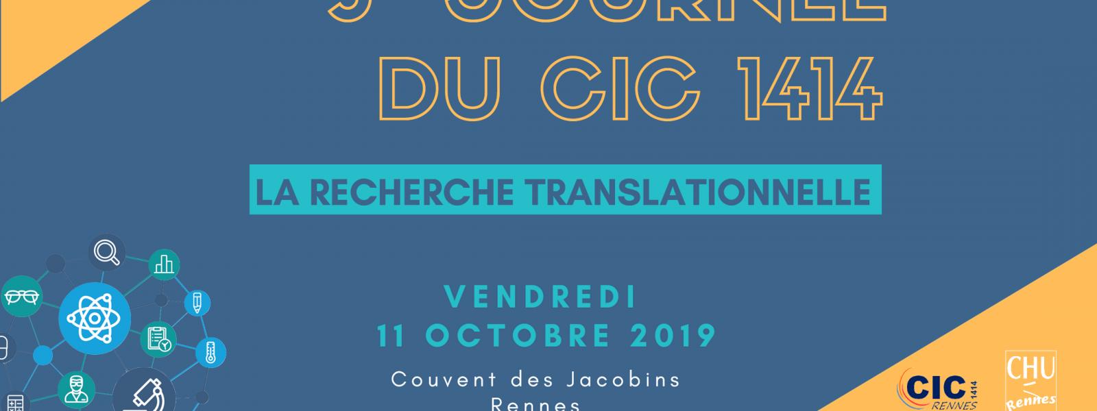 3ème Journée du CIC 1414 - 2019