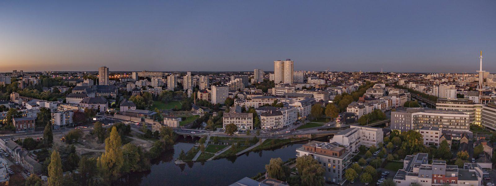 Vue aérienne de Rennes